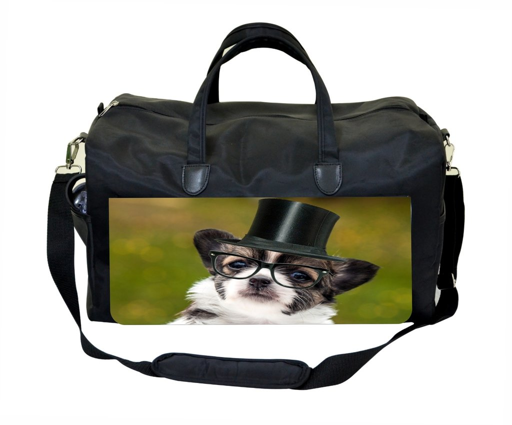 Chihuahua in Glasses Print Design Gym Bag