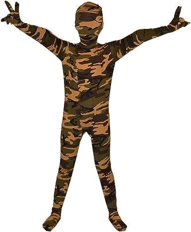 Camuflaje Color Halloween disfraz niños Lycra Spandex traje de ...