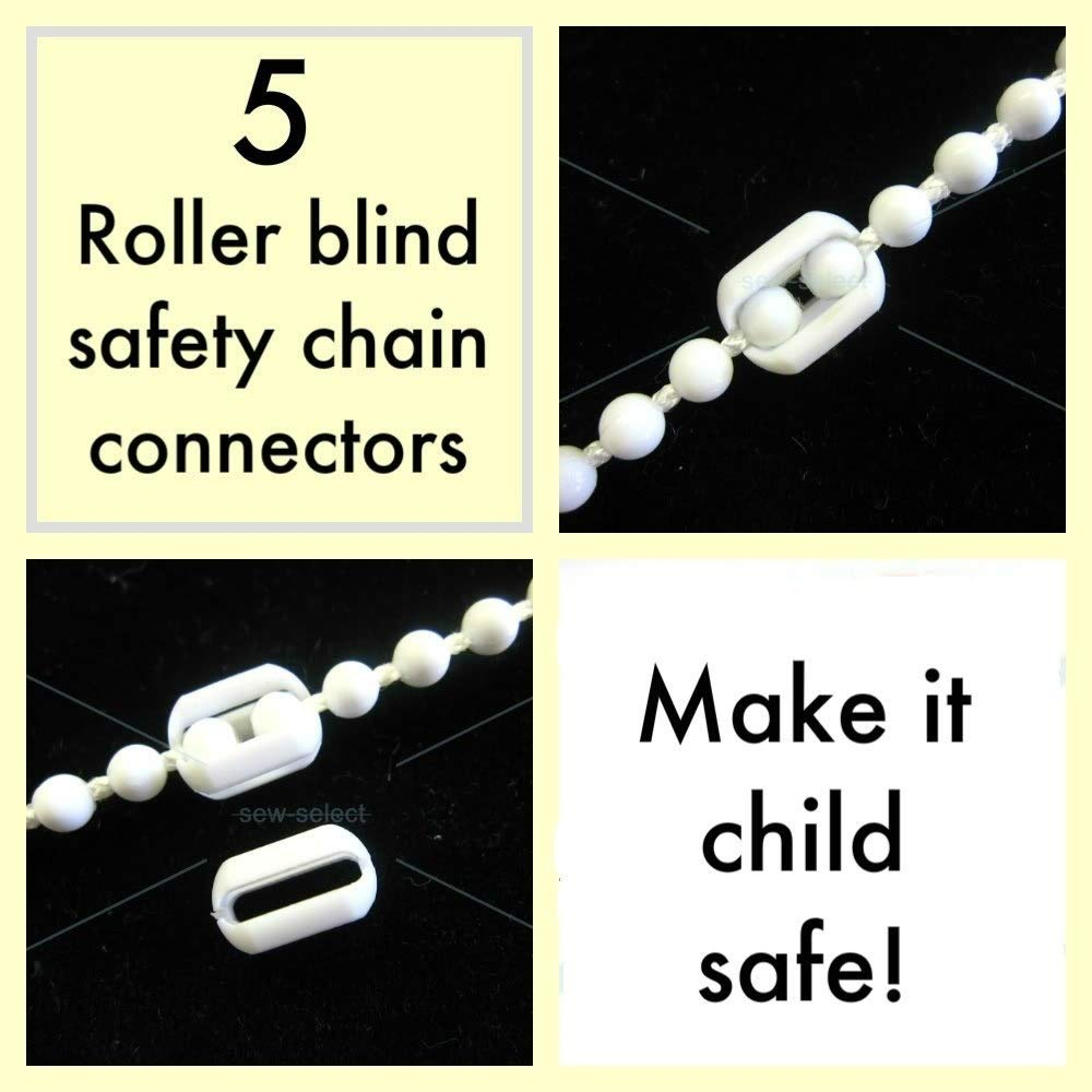 5 Roller blind beaded chain safety connectors - Babyproof Child baby safe - WARNING - These reduce risk only!