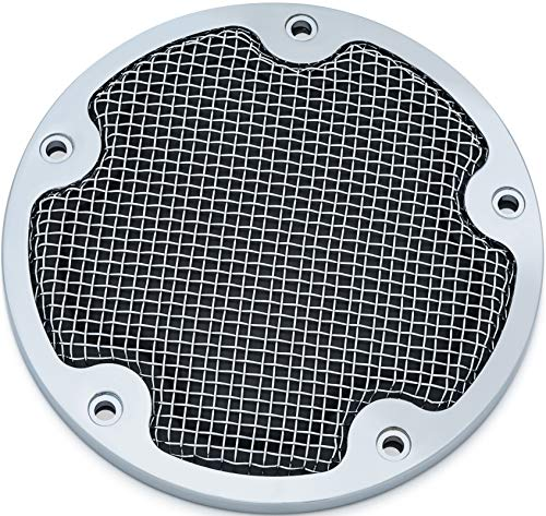 - Kuryakyn 6524 Mesh Derby Cover for '99-'17 Twin Cam, Chrome