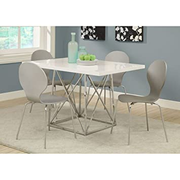 Amazon.com - Monarch I 1046 36 by 48-Inch Dining Table, White ...