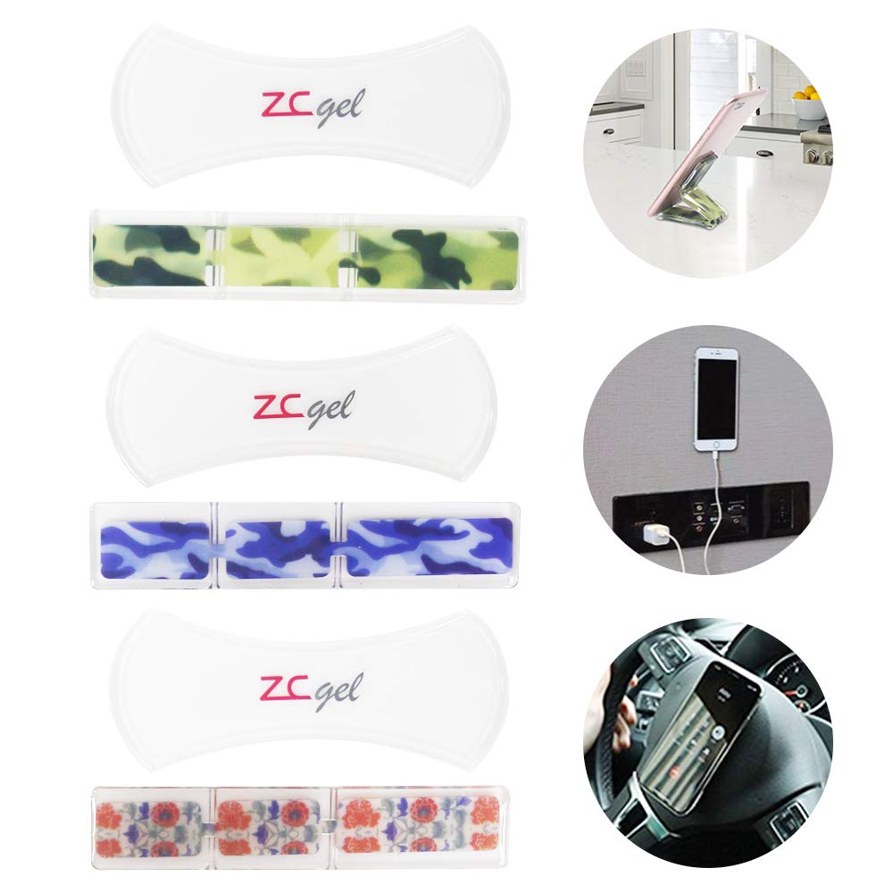 ZC GEL Sticky Phone Holder, Multifunctional Fixate Gel Pad with Removable, Washable and Reusable Anti Slip Gripping Pads Stick to Car Office House Glass Mirrors Anywhere (6 Pack) by ZC GEL
