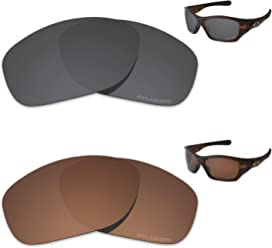 96d53d9cf9 Tintart Performance Replacement Lenses for Oakley Pit Bull Polarized Etched  - Value Pack