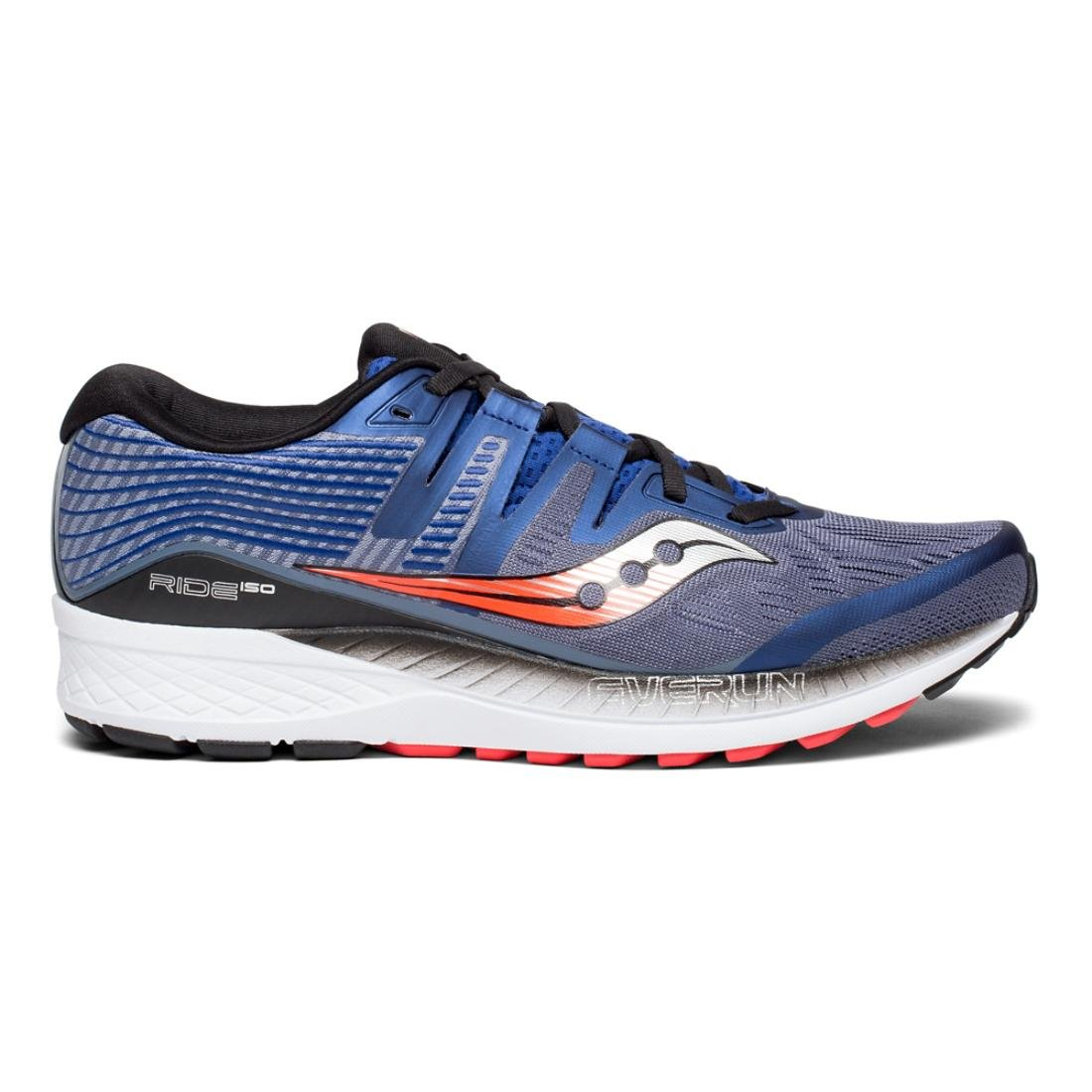 Saucony Men's Ride Iso Running Shoes B078PP8165 7 D(M) US|Grey/Blue/Vizi Red