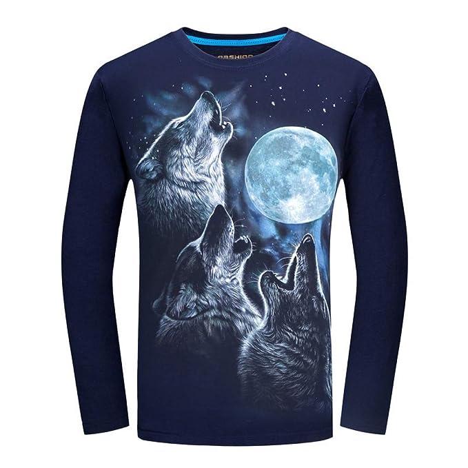 FLAMENCO_STORE Men t-Shirt Long Sleeve Cool Design 3D Funny ...