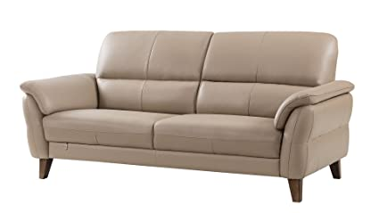 American Eagle Furniture King Collection Living Room Top Grain Italian Leather Sofa, Tan