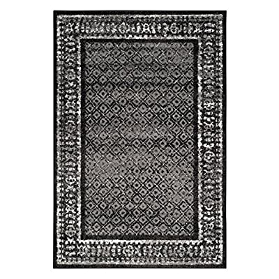 Safavieh Adirondack Collection ADR110A Black and Silver Area Rug