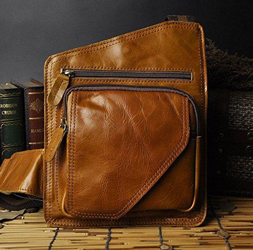 VIPASNAM-Men Genuine Real Leather Outdoor Sport Vintage Fanny Waist Belt Pack Chest (Scott Vintage Range)