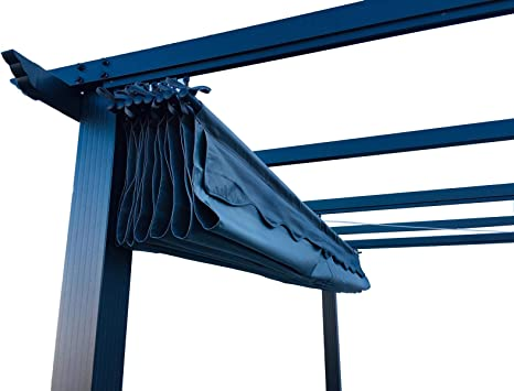 Hagardo Florida Pergola - Toldo (3 x 4 m, Aluminio, con Techo corredero), Color Gris: Amazon.es: Jardín
