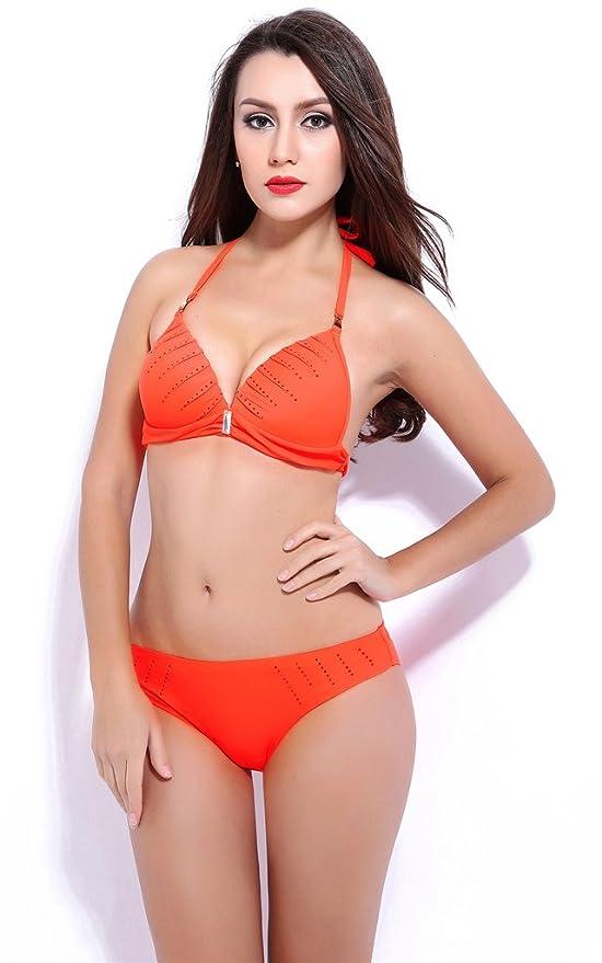 Amazon.com: Fortunings JDS Elegant attractive Halter push up bra beach bikini set beach queens swimwear for women: Sports & Outdoors