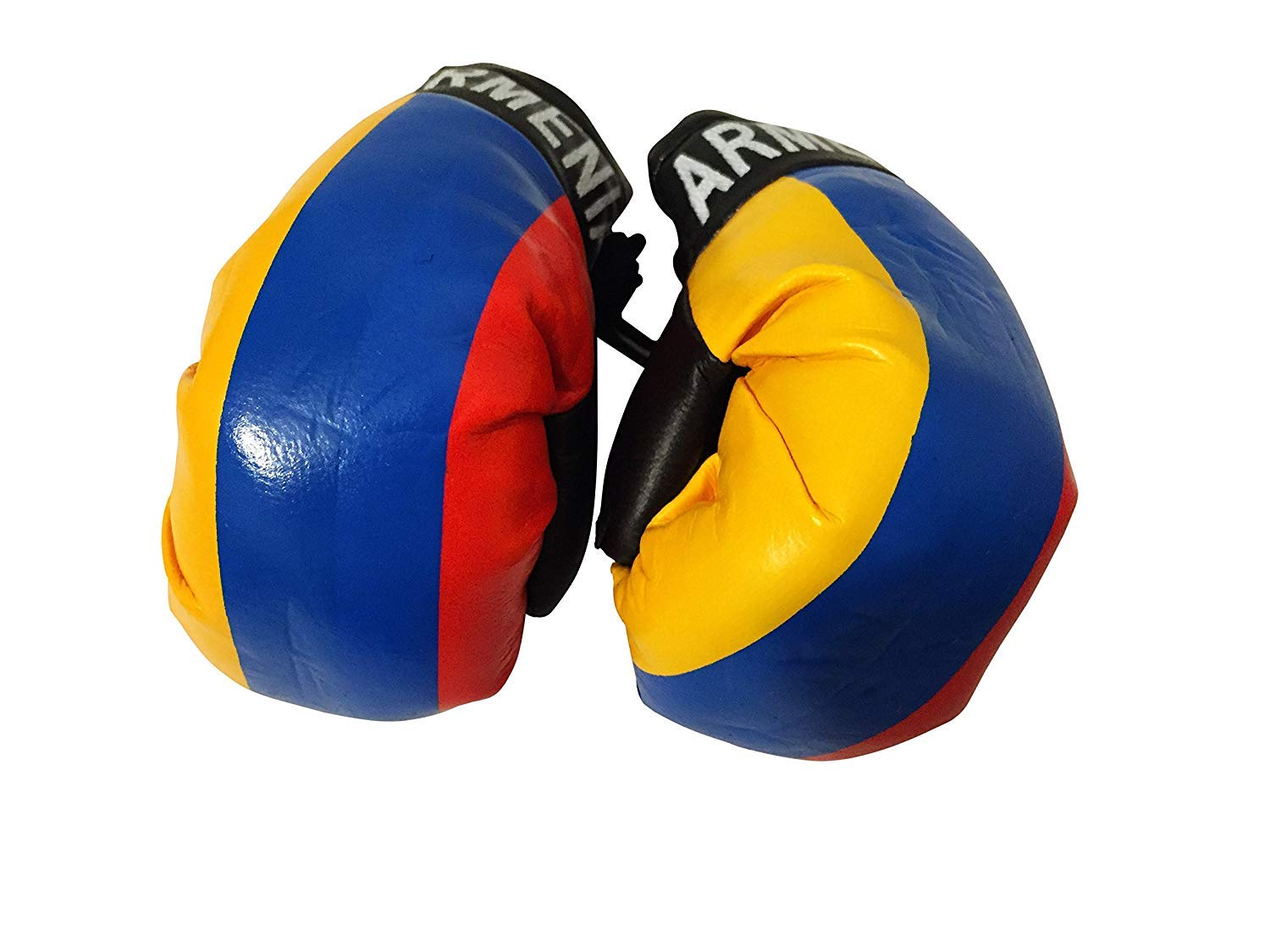 Flag Mini Small Boxing Gloves to Hang Over Car Automobile Mirror – Americas (Country: Armenia)