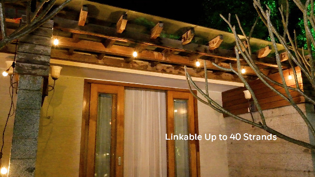 LED string lights make your home stand out