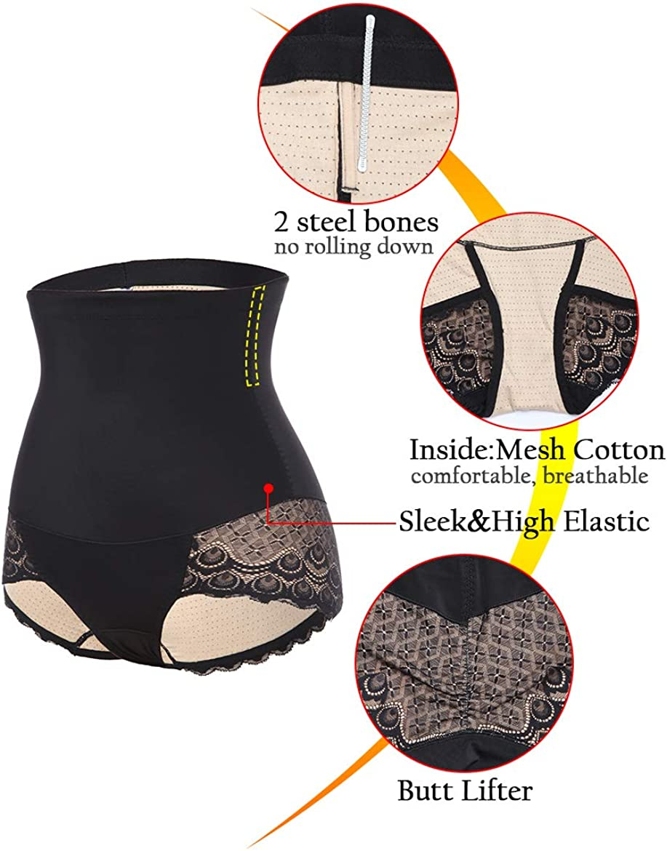 Spitze Full Slip WOWENY Bauchweg-H/öschen mit hoher Taille schlanker Body Shaper f/ür Frauen Shapewear Slimming Pants Unterw/äsche H/üftliftung