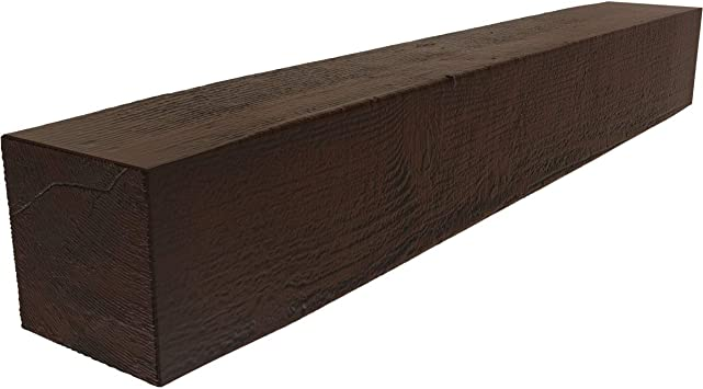 Amazon Com Ekena Millwork Manurs04x04x84zh Rough Sawn Faux Wood Fireplace Mantel 4 H X 4 D X 84 W Premium Hickory Home Improvement