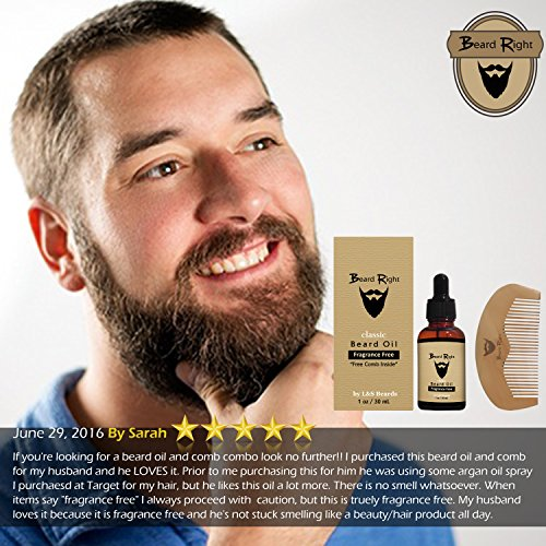 beard conditioner oil softener fragrance free complete beard kit with wooden beard comb all. Black Bedroom Furniture Sets. Home Design Ideas