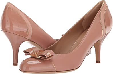 104b7c8d2f2 Amazon.com: Salvatore Ferragamo Women's Carla Lux New Blush Patent 9 ...