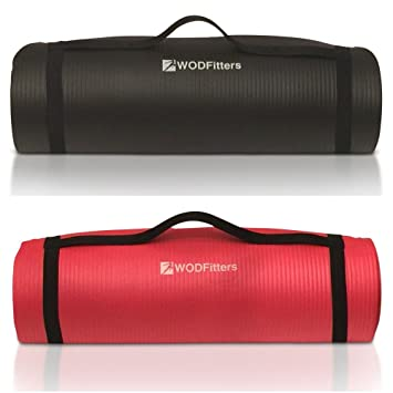 Tapete de yoga WODFitters NBR, Black and Red Double Pack ...