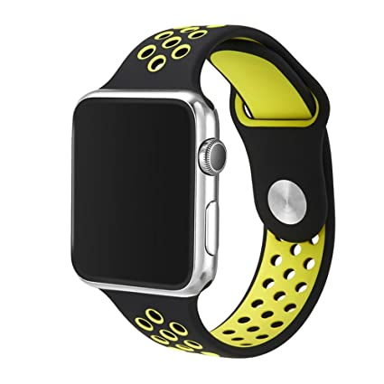 kokome accessoris de Apple Watch Banda Correa suave silicona reloj inteligente banda correa de muñeca (