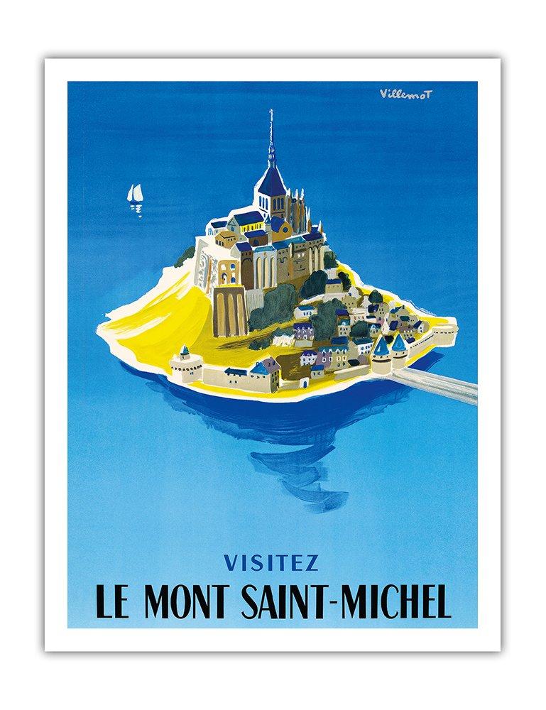 モンサンミッシェルをご覧ください ノルマンディー、フランス ビンテージな世界旅行のポスター によって作成された ベルナールヴィユモ c.1955 アートポスター 76cm x 112cm B01N9C6MZ3 76cm x 112cm 76cm x 112cm