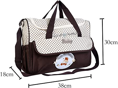 Jitong Multifunción Bolsa de Hombro Tote para Madre Bordado Gran Capacidad Bolso Pañalera para Bebé (Marino, 38 * 18 * 30cm)
