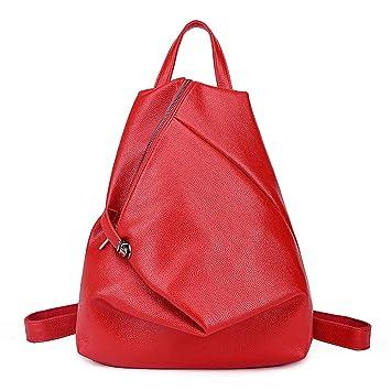 Lucky Star Acogedor Portátil Mochila Mochila Plegable Triangular Bolsa De Viaje Urbana Bolso De Mujer Casual De Cuero Suave Fashion College Wind,B: ...