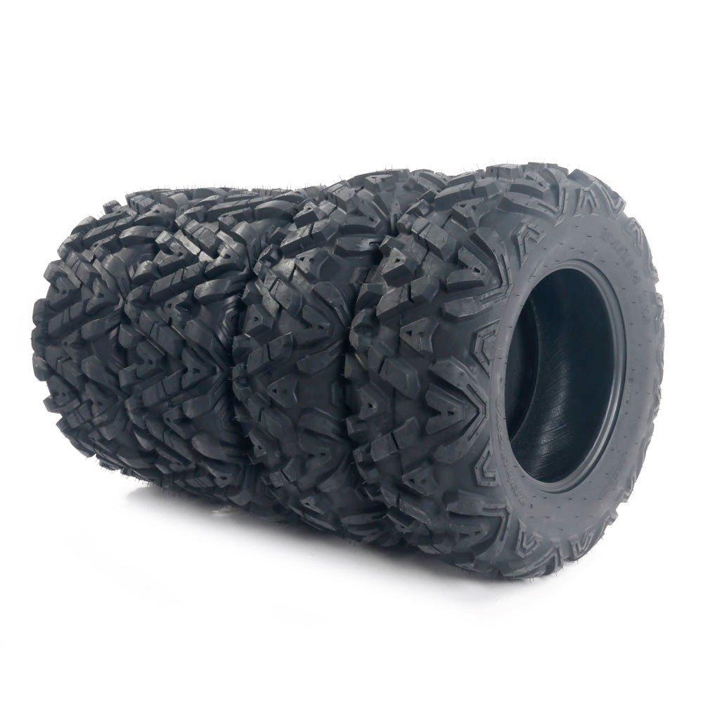Motorhot ATV/UTV Tires 25x8-12 Front & 25x10-12 Rear 6 Ply Complete Set of 4 by Motorhot