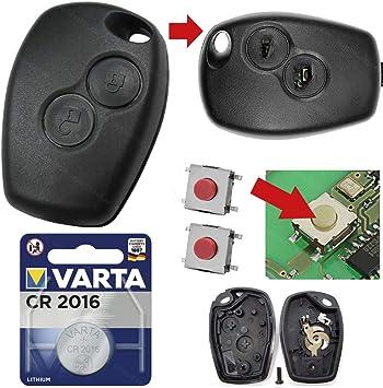 Funkfernbedienung 2 Tasten F RENAULT Master Gehäuse Rohling Autoschlüssel