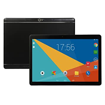 MeterMall - Tablet de 10 Pulgadas Android 8.0 6 + 64 GB con Ranura para Tarjeta TF y Doble cámara, Color Negro