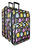 Ever Moda Owl 2-Piece Luggage Set
