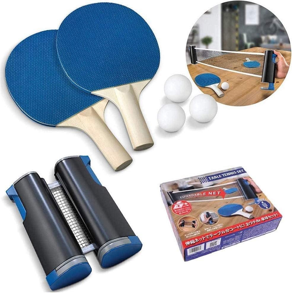 ZYYIN Rack de Tenis de Mesa retráctil, Juego de Ping Pong Juego de Tenis de Mesa retráctil portátil Raqueta de Tenis de Mesa, Escuela, el hogar, el Club Deportivo