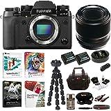 Fujifilm X-T2 Mirrorless Digital Camera with 60mm f/2.4 XF Macro Lens and Software Bundle
