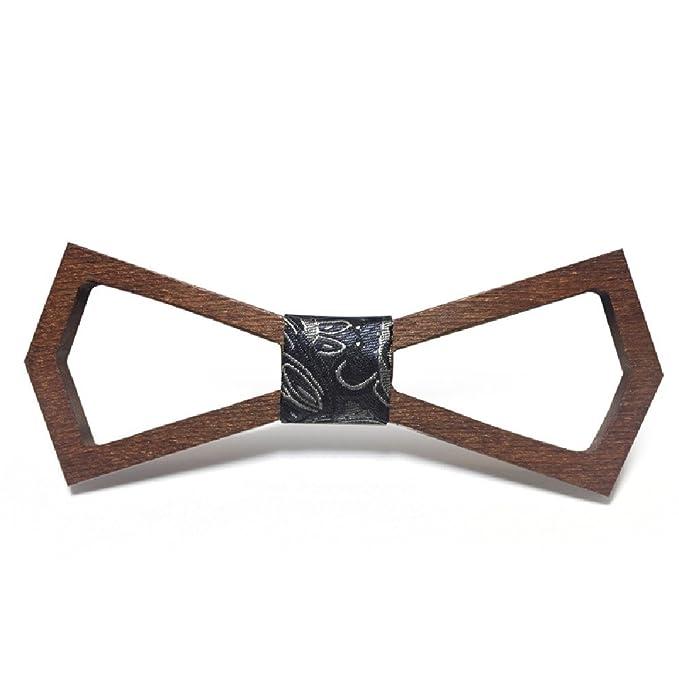 Lacari Handmade Hollow Wooden Fashion Bowties For Men Groom Wedding