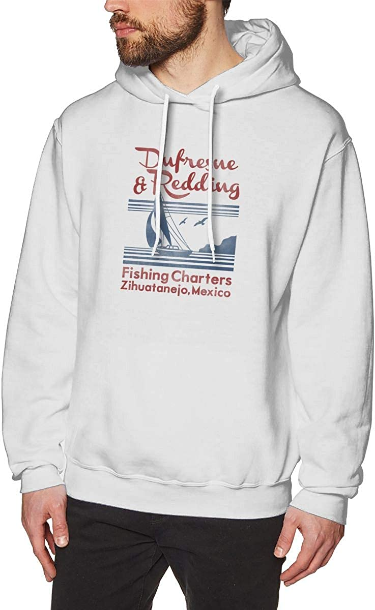 TCJX Mens Dufresne and Redding Graphic Fashion Sport Hip Hop Hoodie Sweatshirt Pullover Tops