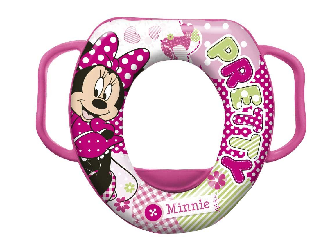 Disney Baby Minnie Mouse Soft Padded Toilet Training Seat with Handles 49336
