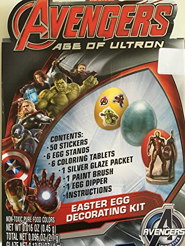 [해외]Ultron 이스터 에그 장식 키트의 어벤저 스 (Avengers) 시대/Avengers Age of Ultron Easter Egg Decorating Kit