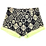 Cheap Santa Playa Short Funky Smugglers, Men's Yoga Exercise Festival Party Swim Shorts w/Hidden Pockets (Juan Calavera)