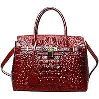PIJUSHI Women's Handbags Crocodile Top Handle Satchel Bags Designer Padlock Handbags For Women P10103