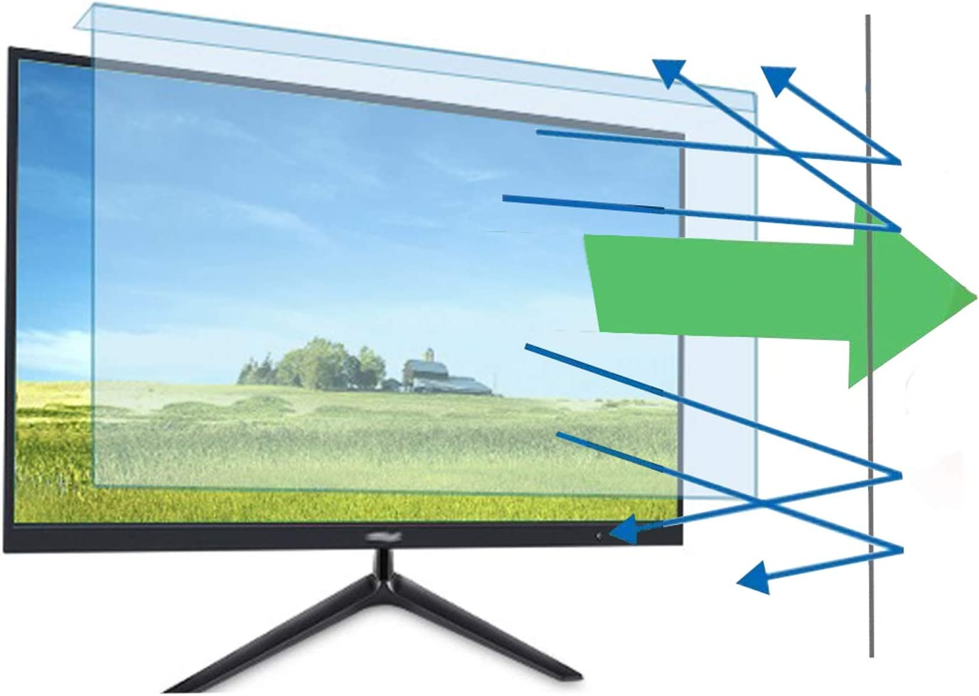 32 inch VIUAUAX Anti-Blue Light Monitor - TV Screen Protector and Damage Protection Panel (W 28.74