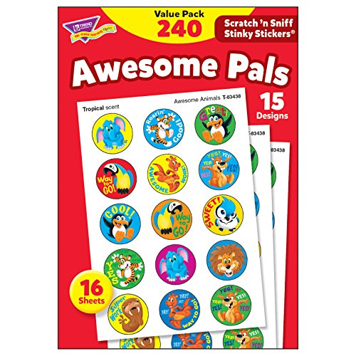 Stinky Stickers Value Pack - Trend Enterprises T-83914 Stinky Stickers Value Pack, Awesome Pals, 240 Stickers
