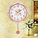 European style Wall clock Children Decoration Quartz Non ticking Non-noise Bedroom Wall clock 20 inch-A diameter50cm(20inch)