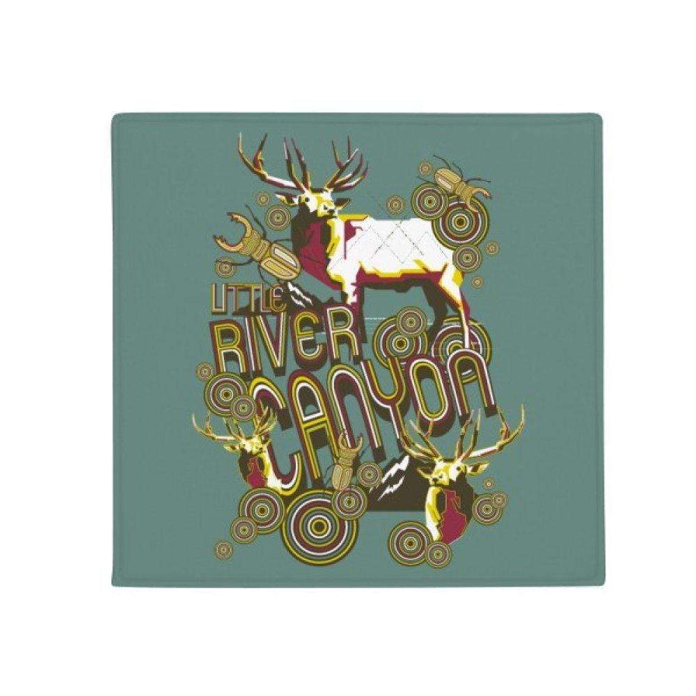 DIYthinker Reindeer Animal Insect Artistic Effect Colourful Anti-Slip Floor Pet Mat Square Home Kitchen Door 80Cm Gift