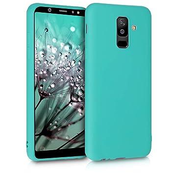 kwmobile Funda para Samsung Galaxy A6+/A6 Plus (2018) - Carcasa para móvil en TPU Silicona - Protector Trasero en Turquesa neón