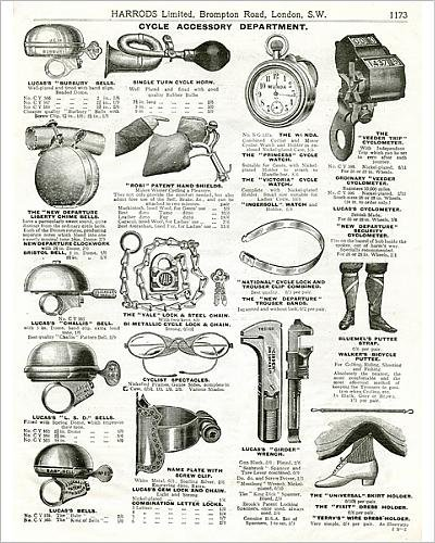 Photographic Print of Trade catalogue of cycle accessories - Edwardian Spectacles