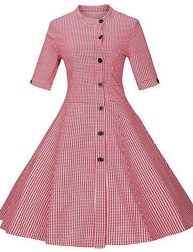cfbf3fa966 ELECTROPRIME Women s Plus Size Simple Skater Dress