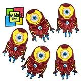 iron arc reactor - Lot of 6 (5+1) Minions Arc Reactor Iron Man Suit Cartoon Logo Embroidered Iron/Sew On Patch