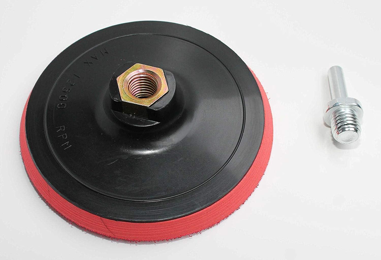 Plato de lija M14 125 mm incluido de sujeción de mandril para taladro