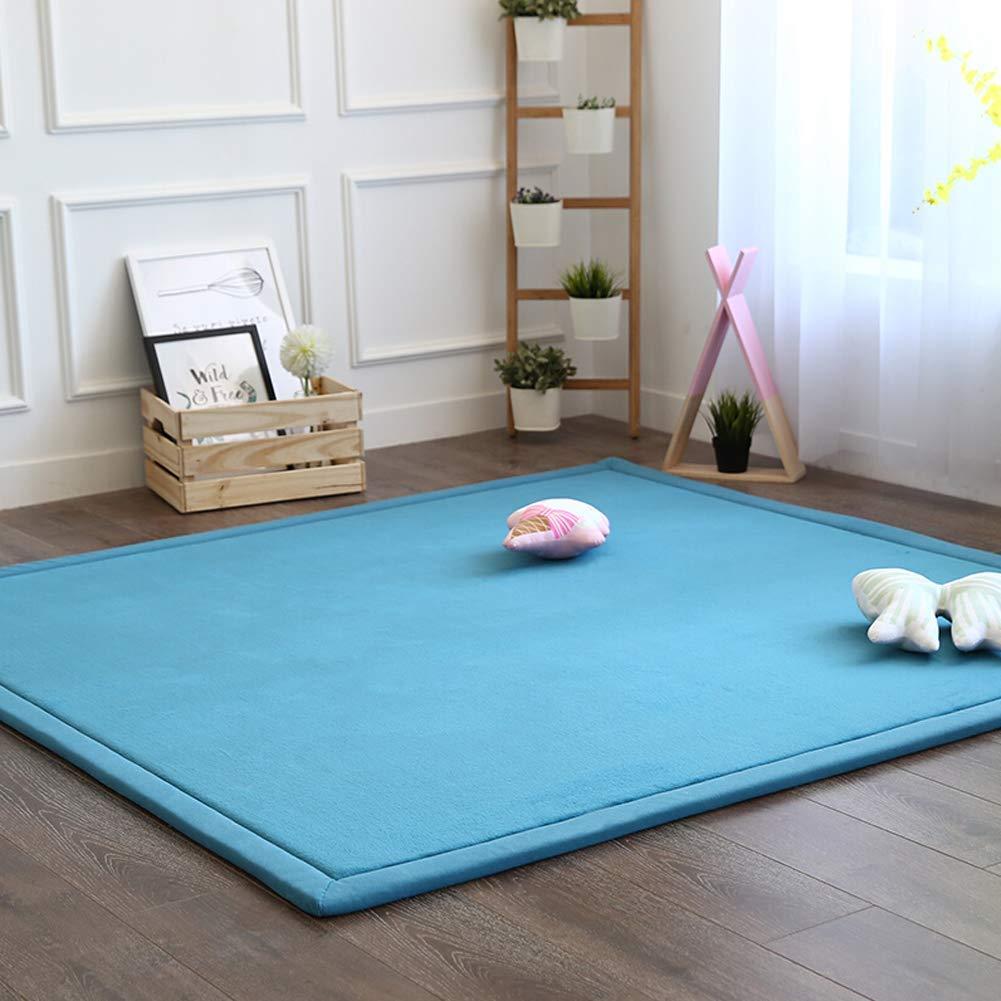 Aishankra Verdicken Weich Kinder Krabbeln Rutschfeste Tatami Teppich Startseite Weiche Teppiche Schwammmatte Spieldecke,G,4'9''X6'6'' 150X200CM