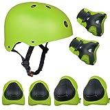 TOPFIRE - Set di casco, ginocchiere, gomitiere e guanti in gel per bambini, per hoverboard, scooter, BMX e bicicletta