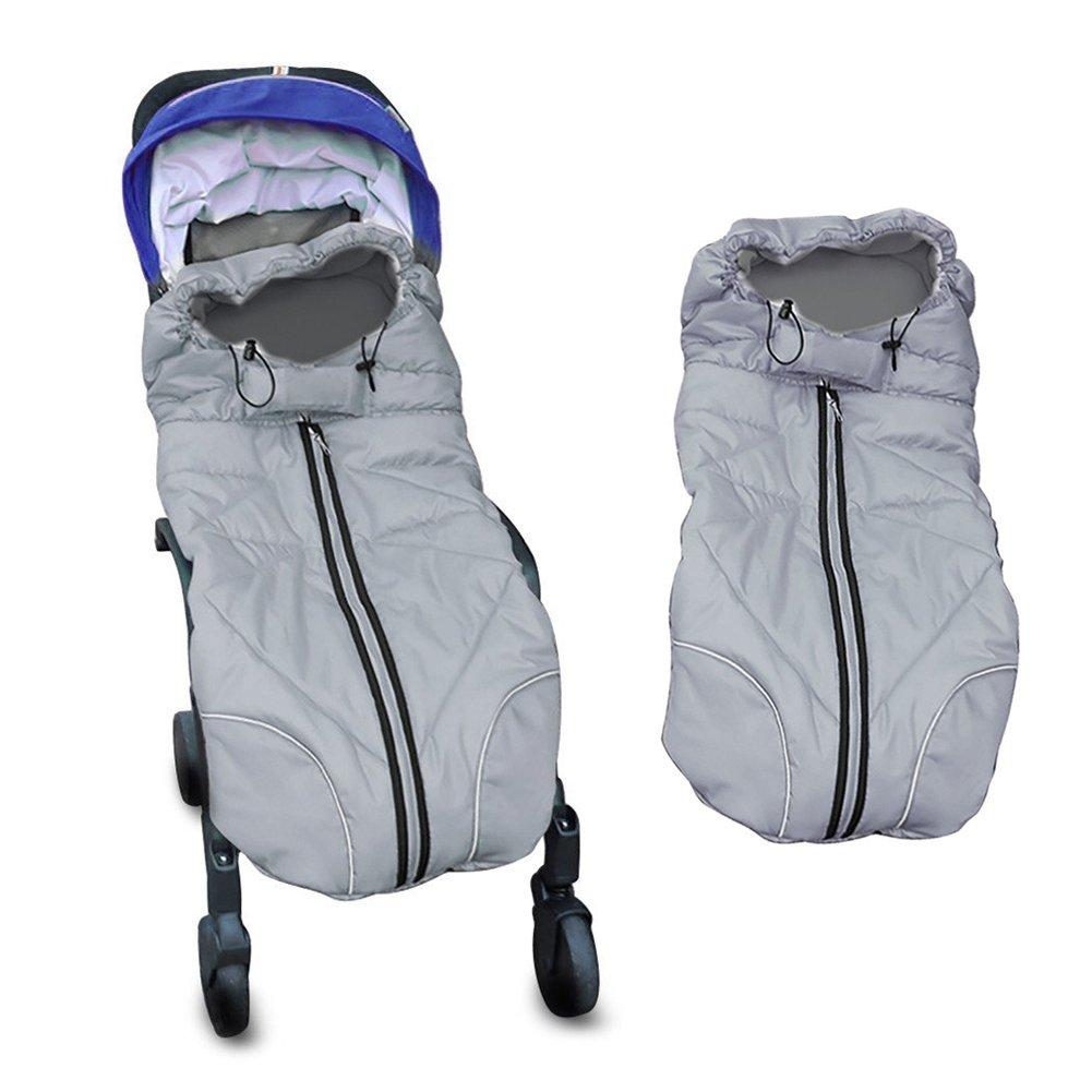 Berocia sacco a pelo bambini coprigambe passeggino universale invernale sacco termicoantivento accessori per passeggino