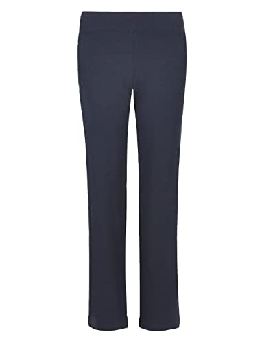 Ladies Marks & Spencer Flat Front Straight Leg Jogger Trousers Sport Active Gym (16 Short, Navy)